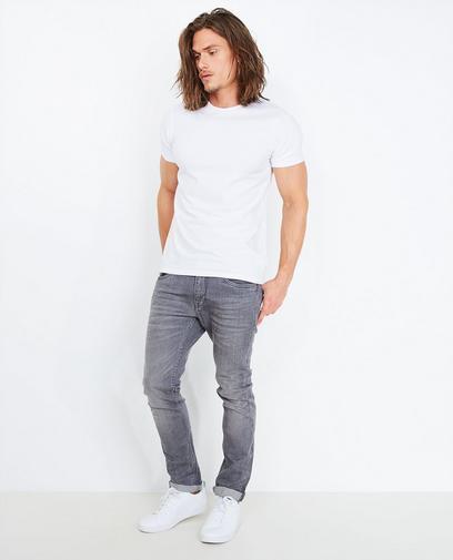Grijze slim fit jeans